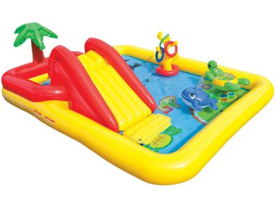 Wodny plac zabaw ze ślizgawką ocean Intex 57454